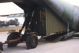 CLT System Loading 8.5 ft. Tall ISO Container
