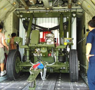 M1022-A1 Dolly Set Inside Aircraft